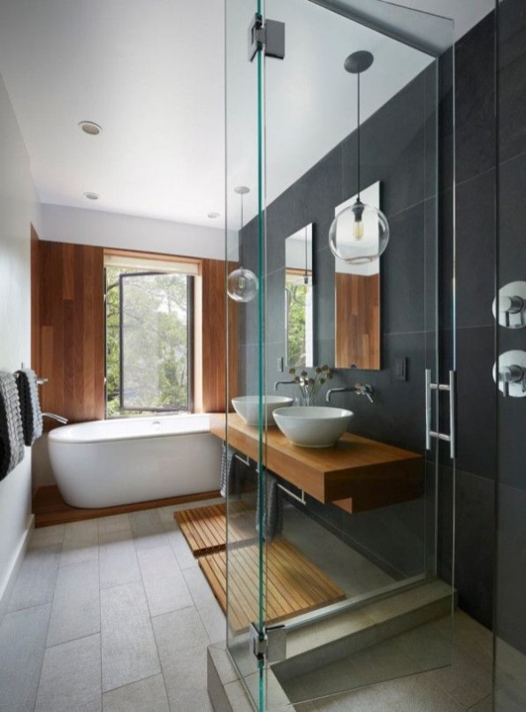 . 52 Beautiful Modern Bathroom Design You Can Try   rengusuk com
