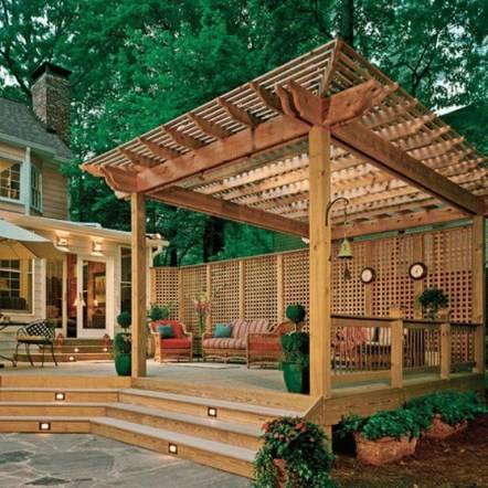 Best Backyard Gazebo Made From Pallets 24