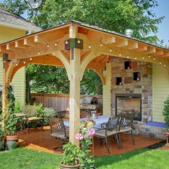 Best Backyard Gazebo Made From Pallets 28