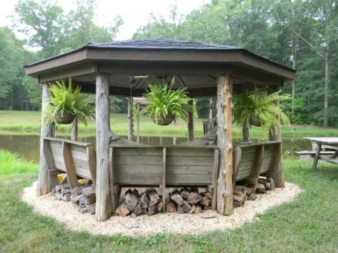 Best Backyard Gazebo Made From Pallets 48