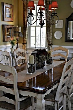 Best Decoration French Farmhouse Dining Room Design 08