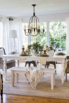 Best Decoration French Farmhouse Dining Room Design 15
