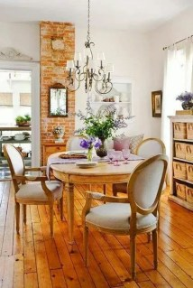 Best Decoration French Farmhouse Dining Room Design 23