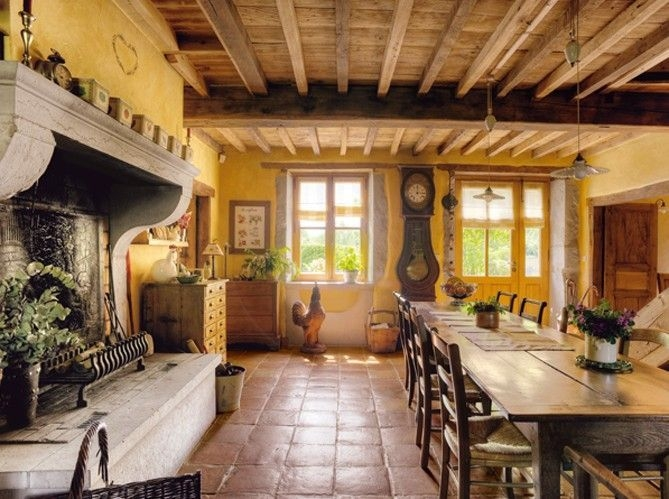 This image has an empty alt attribute; its file name is Best-Decoration-French-Farmhouse-Dining-Room-Design-31.jpg