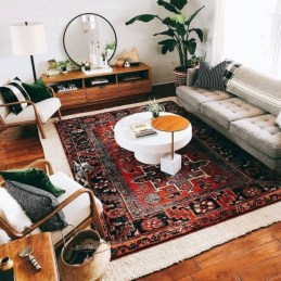 Best Rug To Decor Your First Living Room 43