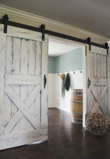 Farmhouse Door Design For Decorating Your House 43