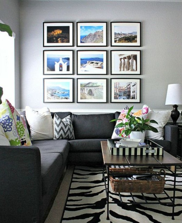 How To Create Wall Gallery In Above The Sofa 09