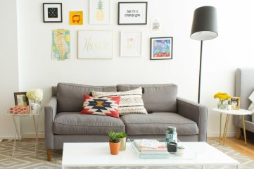 How To Create Wall Gallery In Above The Sofa 10