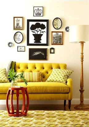 How To Create Wall Gallery In Above The Sofa 21