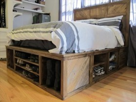 How To Make DIY Pallet For Storage Ideas 15