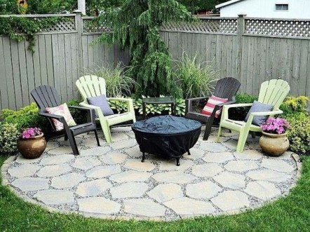 Simply Impressive Sitting Areas For Backyard Landscape 03