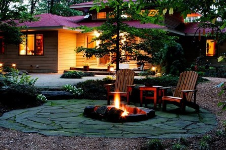 Simply Impressive Sitting Areas For Backyard Landscape 38