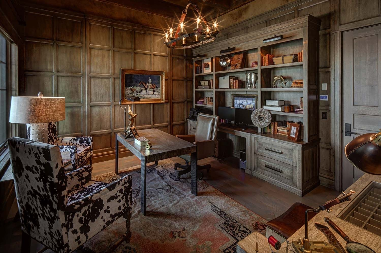 44 Modern Rustic Decorating Ideas For Your Home Office 08