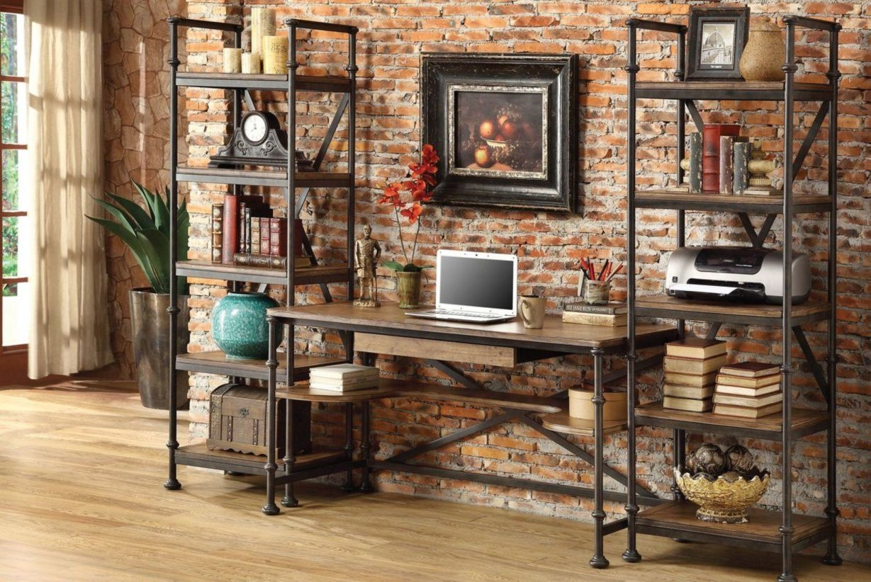 44 Modern Rustic Decorating Ideas For Your Home Office 14