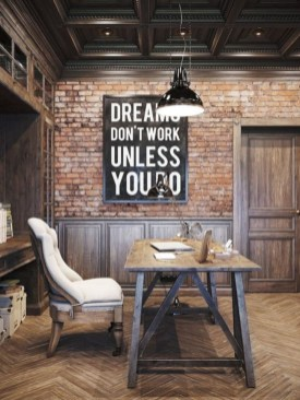 44 Modern Rustic Decorating Ideas For Your Home Office 24