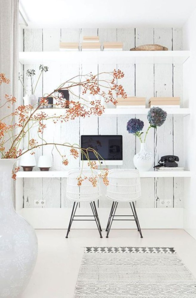 44 Modern Rustic Decorating Ideas For Your Home Office 39