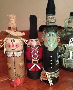 Amazing Inspiration With Bottle Christmas Vases You Can Try 42