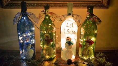 Amazing Inspiration With Bottle Christmas Vases You Can Try 45