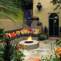 Beautiful Tropical Outdoor Decoration For Cozy Place 05