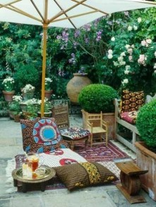 Beautiful Tropical Outdoor Decoration For Cozy Place 45