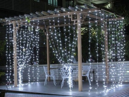 Better Homes And Gardens With Outdoor LED Curtain Lights 43