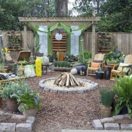 DIY Wood Project For Landscaping Backyard Ideas 03