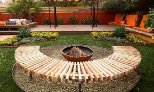 DIY Wood Project For Landscaping Backyard Ideas 23
