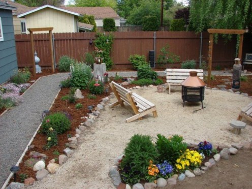 DIY Wood Project For Landscaping Backyard Ideas 24