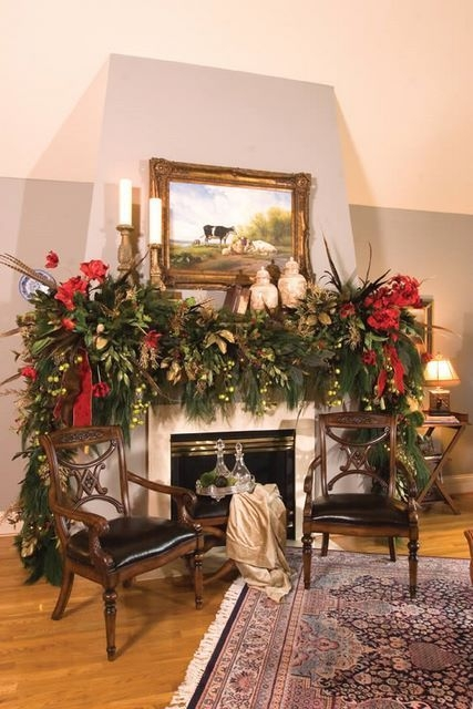 Gorgeous Christmas Mantel For Fireplace Decorate In Your House 08