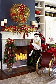Gorgeous Christmas Mantel For Fireplace Decorate In Your House 15