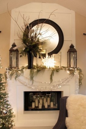 Gorgeous Christmas Mantel For Fireplace Decorate In Your House 21