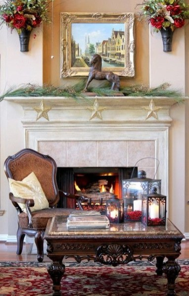 Gorgeous Christmas Mantel For Fireplace Decorate In Your House 32