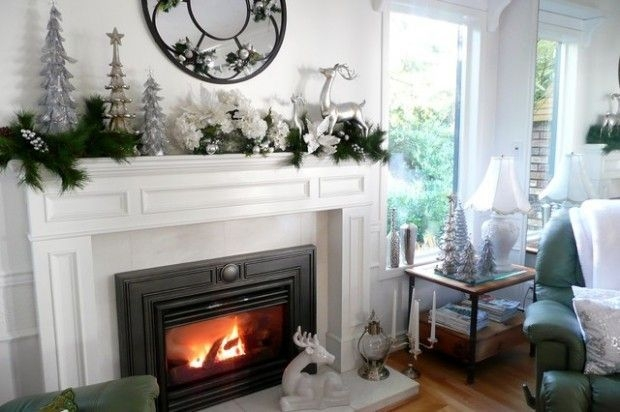 Gorgeous Christmas Mantel For Fireplace Decorate In Your House 34