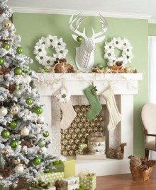 Gorgeous Christmas Mantel For Fireplace Decorate In Your House 40