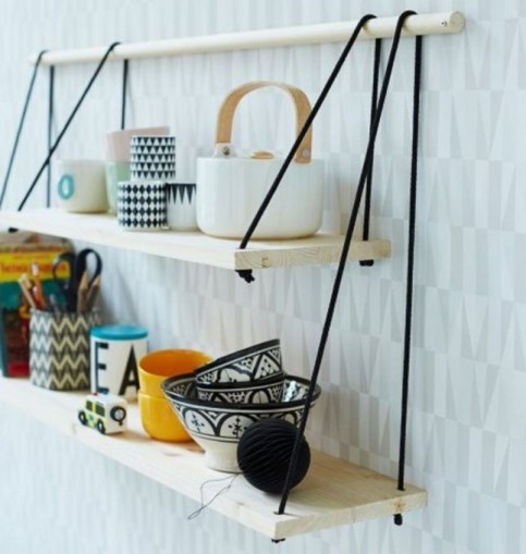 Hanging Shelves Decoration You Can Put In Your Wall 40