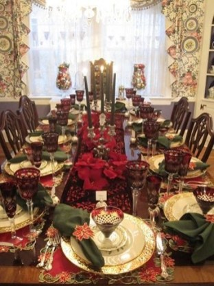Luxury Christmas Table Decoration For Celebrating Christmas This Year 18