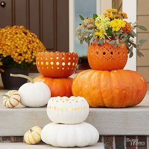 Perfect Pumpkin Ideas To Decorate Your Porch 22