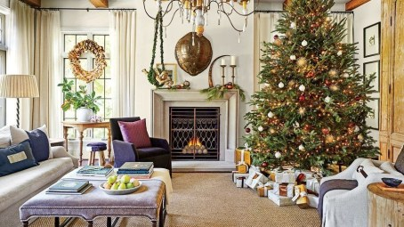 Winter Fireplace Decoration Ideas 03