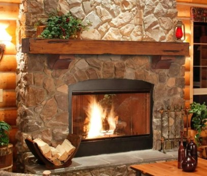 Winter Fireplace Decoration Ideas 05