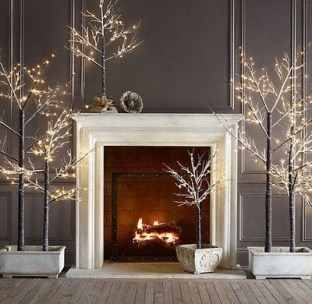 Winter Fireplace Decoration Ideas 08