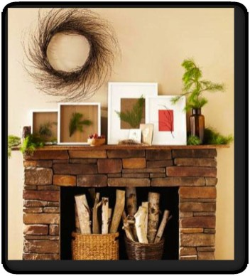 Winter Fireplace Decoration Ideas 34