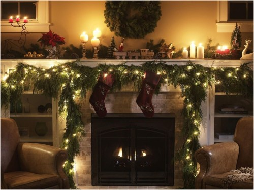 Winter Fireplace Decoration Ideas 47
