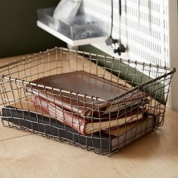 Wire Basket Ideas You Can Make For Storage 22