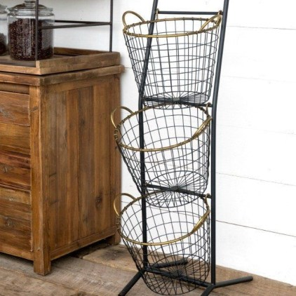 Wire Basket Ideas You Can Make For Storage 29