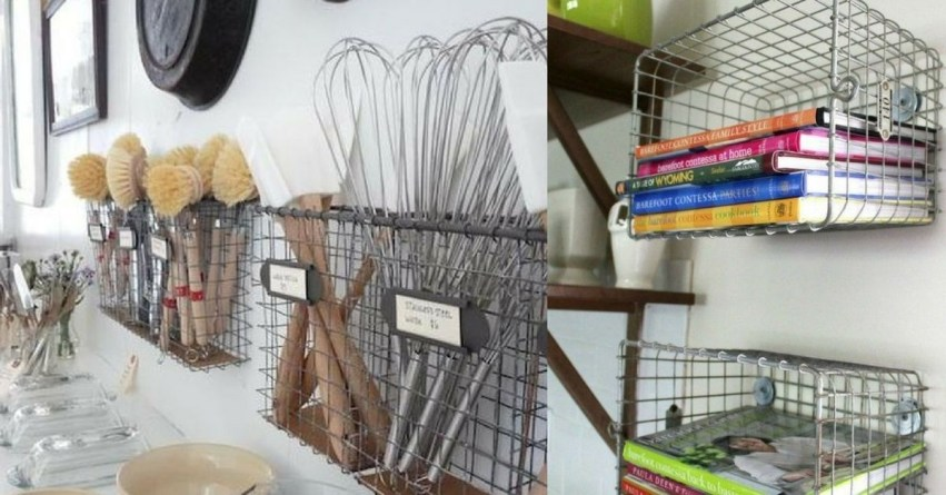 Wire Basket Ideas You Can Make For Storage 36