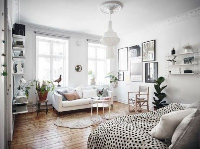 Awesome Scandinavian Style Interior Apartment Decoration 07