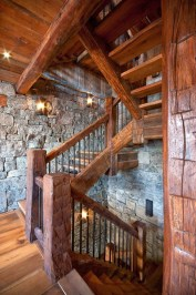Best And Elegant Wooden Stairs In Your House 32