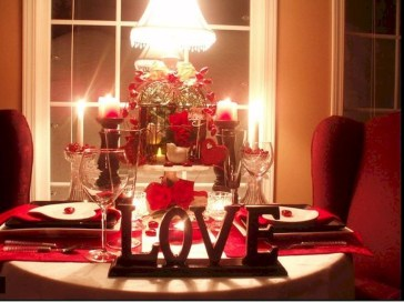 Romantic Table Decoration For Valentine's 01