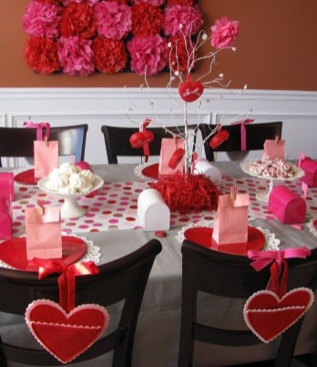 Romantic Table Decoration For Valentine's 08
