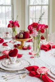 Romantic Table Decoration For Valentine's 29